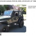 Excellent copy for a Jeep Wrangler Craigslist ad that rivals the infamous Pontiac ad from 2012. Fine advertising.