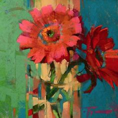 """Daily Paintworks - """"Sassy Siblings"""" - Original Fine Art for Sale - © Jennifer Evenhus Oil Painting Flowers, Abstract Flowers, Art Floral, Still Life Art, Paintings I Love, Floral Paintings, Pastel Art, Fine Art Gallery, Painting Inspiration"""
