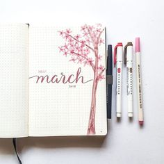 March means flowering trees! There are a ton by my apartment, they are gorgeous! . . . . #BulletJournal #BulletJournaling #BulletJournalCommunity #bujolove #BuJo #BulletJournalJunkies #BuJoJunkies #BulletJournalLove #bujojunkies #bujoinspire #bujobeauty #