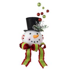Christmas Tree Topper-Snow Man Head Tree Topper with Top Hat for $49.99  He fits perfectly on the top of a Christmas Tree