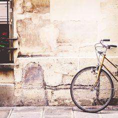 Bikes + old stone.