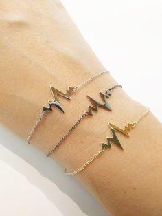 Zag Bijoux Armband Heartbeat (Gold , Silver , Gunmetal) , Luxedy , 3