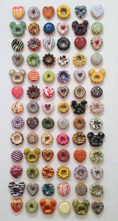 идея для лепки пончиков из полимерной глины