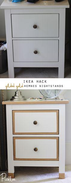 Ikea Hack! Gilded Gold Hemnes Nightstands [DIY]