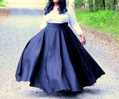 """Plus Size Maxi Skirt / Women plus size High Waist / plus size  2 - 24 ) 41- 42"""" L by aconversationpiece on Etsy https://www.etsy.com/listing/150124664/plus-size-maxi-skirt-women-plus-size"""