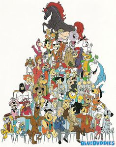 Hanna-Barbera and their classic cartoon characters Old School Cartoons, Old Cartoons, Classic Cartoons, Funny Cartoon Pictures, Cartoon Photo, Funny Pix, Hanna Barbera, Cartoon Tv Shows, Cartoon Characters