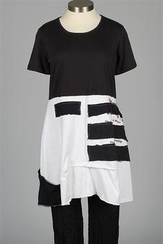 Catherine Doll - Shatter Tunic - Black & White 2
