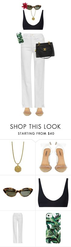 """""""I didn't have time to write a short letter, so I wrote a long one instead."""" by quiche ❤ liked on Polyvore featuring Rochelle Sara, Frame, Milly and Chanel"""
