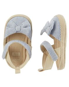 Carter's Striped Espadrille Crib Shoes
