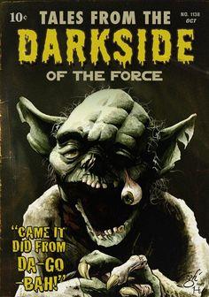 Zombie Yoda: Tales from the Darkside of the Force Starwars, Star Wars Poster, Star Wars Art, Star Trek, Breaking Bad, Star Wars Halloween, Zombie Art, Zombie Pics, Geek Art
