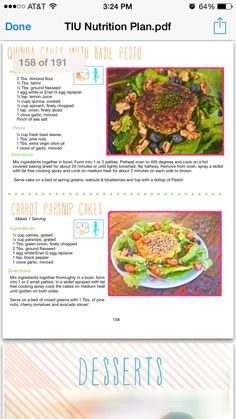 Time it up quinoa cake with pesto