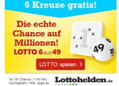 Gratis: Spielfeld zum Lotto-Jackpot in Höhe von 29 Millionen Euro https://www.discountfan.de/artikel/c_gratis-angebot/gratis-spielfeld-zum-lotto-jackpot-in-hoehe-von-29-millionen-euro.php Es ist der zweithöchste Lotto-Jackpot in diesem Jahr, Discountfans können sich ihre Chance zum Nulltarif sichern: Neukunden erhalten ein Spielfeld bei Lottohelden komplett gratis. Gratis: Spielfeld zum Lotto-Jackpot in Höhe von 29 Millionen Euro (Bild: Lotthelden.de) Um die Chance auf