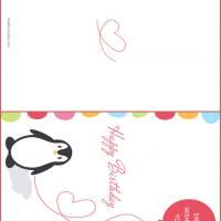 Printable Penguin Birthday Card - FreePrintable.com