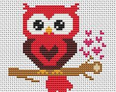 Love Puppy Paw Print Counted Cross Stitch di InstantCrossStitch