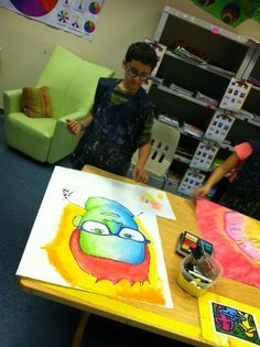 Princess Artypants: Visual Arts in the PYP: Giant Pop Art Portraits