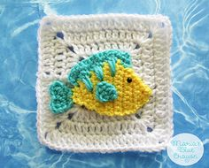 Ravelry: Tropical Fish Granny Square pattern by Maria's Blue Crayon