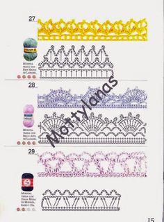 Revistas de crochet y tejidos gratis: Tejer la moda - Bordes en chochet