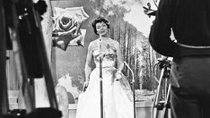 """The German participant Margot Hielscher during her performance with her song """"Telephone,"""" the Grand Prix of the Euro Vision 1957 in the Grea. Frankfurt, She Song, Grand Prix, Opera, Princess Zelda, Songs, Telephone, Switzerland, Euro"""