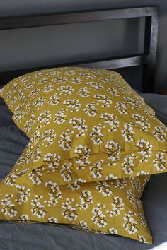 pillow shams (this is the same fabric I am using for my duvet cover, now I can make matching shams!)