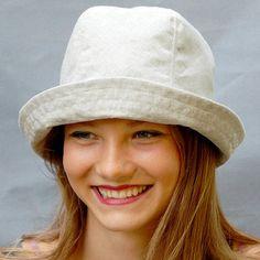 3a2258b9b4331 Natural linen bucket hat ZUTsolene Rain Hat