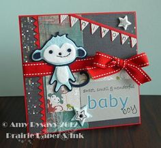 Baby Card #2 in my 2012 Baby Card Series by AmyR of Prairie Paper & Ink