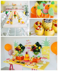 Tutti Frutti Birthday Party via Kara's Party Ideas KarasPartyIdeas.com Party supplies, cake, tutorials, desserts, favors, food,