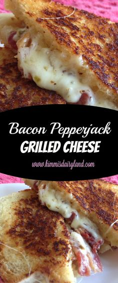 If you love bacon and melty cheese and food with a little kick to it, then you will LOVE my Bacon Pepperjack Grilled Cheese! This recipe is quickly becoming one of my new favorites. by crystalc->*(ME: NO BACON) Think Food, I Love Food, Good Food, Yummy Food, Grilled Sandwich, Soup And Sandwich, Steak Sandwiches, Grilled Cheese Sandwiches, Grilled Cheese Food Truck