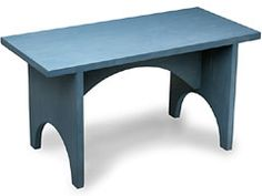 Shaker Arched Bench Can Be Bought As Kit Or Finished, Also Can Be Custom  Made