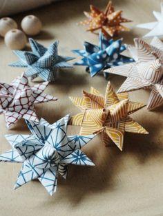 Weihnachtssterne basteln vorlagen kinder 3d effekt