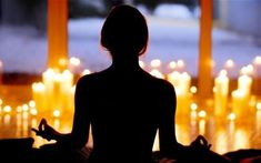 Image result for candles and woman meditating