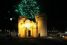 Fuegos artificiales en la Feria de San Juan de Badajoz
