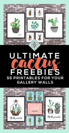 Cactus Art Roundup: 55 Awesome Free Printables • Little Gold Pixel