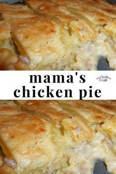 Mama's Chicken Pie is one of the best chicken pies I've ever had. Ultimate comfort food the family will love! #comfortfood #chickenrecipe #chickenpie #familydinner #whatsfordinner #dinnertime #dinnerrecipe Best Chicken Pot Pie, Chicken Pot Pie Recipe Crockpot, Chicken Pot Pie Casserole, Casserole Dishes, Frozen Chicken, Teriyaki Chicken Casserole, Casserole Recipes, Best Chicken Dishes, Chicken Recipes