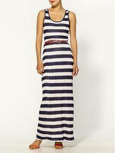 Pim + Larkin Crochet Striped Maxi Dress | Piperlime