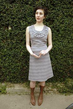 Ruffle Bib Dress - made to order