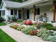 nice gardening at this Kewadin Michigan home.