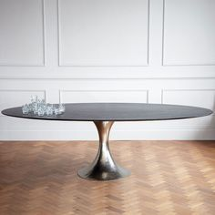 "Dakota Dining Table - Wood - Dining Tables - Tables - Products Dimensions Options: W78"" x D39"" x H29.5"", W96"" x D48"" x H29.5"", W120"" x D60"" x H29.5"" Material Metal, Wood Lead Time 6-10 Weeks (Made to Order)"