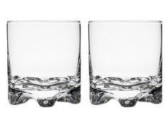 Iittala Gaissa -lasisetti, 30 €/2 kpl pakkaus. Sisältää kaksi lasia. Koskee kaikkia Gaissa-laseja, kuten grogilasi 28 cl. Norm. 41,80–45,80 €. Iittala, E-taso