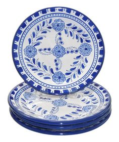Take a look at this Azoura Side Plate - Set of Four by Le Souk Ceramique on #zulily today! $27 !!