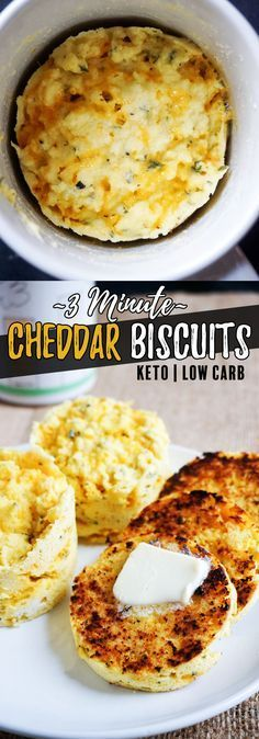 These moist and cheesy low carb biscuits can be made in under 5 minutes!