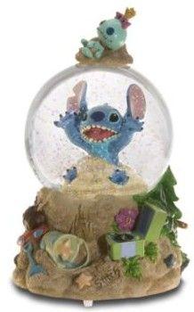 Disney Stitch and Scrump Snowglobe