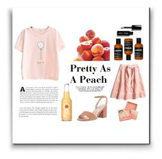 """""""Pretty As A Peach"""" by mothernaturesdaughter ❤ liked on Polyvore featuring Keen Footwear, Madewell, Bobbi Brown Cosmetics, Charles David, cute, pretty, pastel and polyvoreeditorial"""