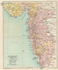 Showing Native States 1909 Map Inset Mumbai Bombay Chennai Madras Humorous West India