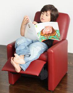 Red Modern Kids Recliner Chair