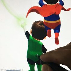 Mauricio Abril Art  justice league ,superman green lantern , character design
