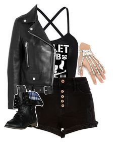 """Me as a member of the Bullet Club"" by thekaylabella ❤ liked on Polyvore featuring River Island and Acne Studios"
