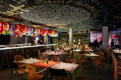 The New MAMA SHELTER Hotel By Philippe Starck In Bordeaux, France #interiordesign #restaurant #design #eclectic #colorful