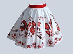 LUXURYday / suknička FOLK - červená
