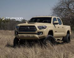 Toyota Tacoma in Quicksand Kevlar... What do you guys and girls think of this truck? #starwoodcustoms #toyotatacoma #trd #kevlar #dallas #starwoodmotors