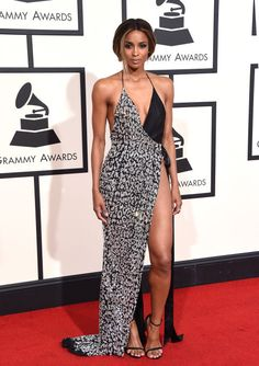 The 50 Most Iconic Fashion Moments in Grammy Award History Before the 2017 Grammy's kick off, check out our list of the 50 most *amazing* fashion moments and ensembles in Grammy Award History! In 2016, Ciara slayed in this almost-naked, super-high-slit number by Alexandre Vauthier Haute Couture.